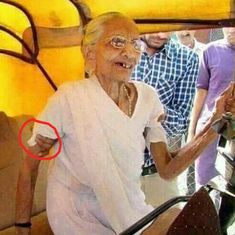 A ghost? Twitterati wonder who is holding Modi's mother in BJP leader's tweet