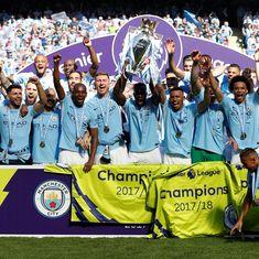 Manchester City lift Premier League trophy as Huddersfield celebrate priceless point