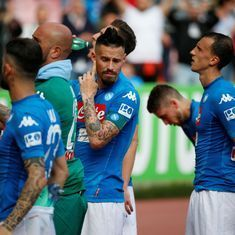 Napoli all but hand Juventus their Serie A seventh straight title after another slip up