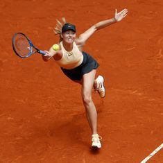 Madrid Open: Sharapova marches into quarter-finals with straight-sets win over Mladenovic