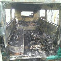 दिल्ली : धूल भरी आंधी के बीच एंबुलेंस में आग लगने से दो लोगों की मौत, एक घायल