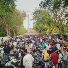 Jinnah portrait row: Aligarh Muslim University VC urges protesting students to focus on exams