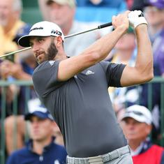 Dustin Johnson takes commanding lead at US Open, Tiger Woods misses cut