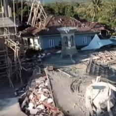 Watch: Drone footage reveals the silent wreckage left behind by a tsunami in Indonesia