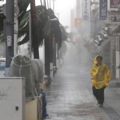 Japan: Flights and train services cancelled as Typhoon Trami is set to hit to main island