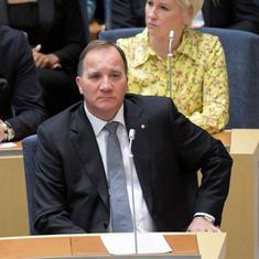 स्वीडन के प्रधानमंत्री संसद में अविश्वास प्रस्ताव पर हुए मतदान में हारे