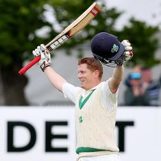 Kevin O'Brien's historic century after following on turns Ireland's debut Test around