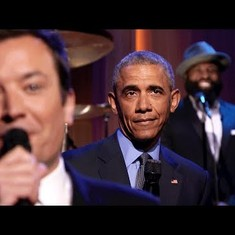 Watch: Which US president except Barack Obama could croon the news headlines to a blues soundtrack?