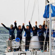 All-women crew of INSV Tarini receives Tenzing Norgay Award