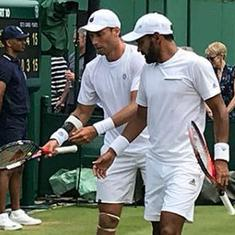 Sharan and Sitak's remarkable run at Wimbledon ends after narrow defeat in quarter-finals