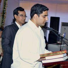 Andhra Pradesh: CM Chandrababu Naidu's son Nara Lokesh inducted as minister after Cabinet reshuffle