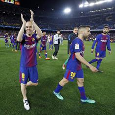 Barcelona win 1-0 in Iniesta's final appearance, Torres scores brace for Atletico Madrid