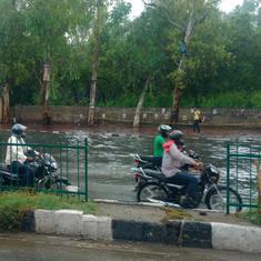 Heavy rain in Delhi, Gurugram causes waterlogging, triggers traffic jam