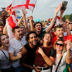 Beers, tears, cheers: How England fans celebrated their team's entry into the World Cup semi-finals