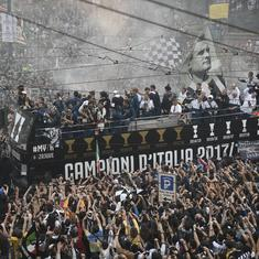 Juventus' open-top bus victory parade in Turin marred by injuries to six fans
