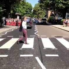 It was forty-nine years ago (if not quite today): Paul McCartney crosses Abbey Road once again