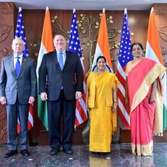 Sushma Swaraj and Nirmala Sitharaman meet US counterparts in first '2+2 dialogue' to improve ties