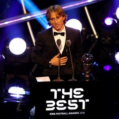 The end of an era: Luka Modric pips Cristiano Ronaldo to be crowned Fifa's best player of the year