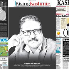 'Shujaat silenced': Kashmir dailies carry dark front pages after editor Shujaat Bukhari's murder