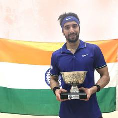 Squash: Vikram Malhotra defeats world junior champion to lift PSA challenger title in Canada