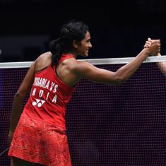 Badminton Worlds: PV Sindhu beats Nozomi Okuhara in straight games to enter semis, guarantee medal