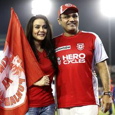 Kings XI Punjab co-owner Preity Zinta refutes claims of a verbal spat with Virender Sehwag