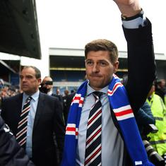 Steven Gerrard's managerial career at Rangers starts with a man sent off and a 1-1 draw
