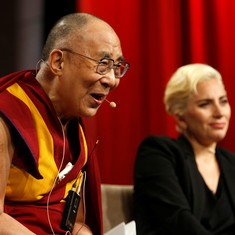 China objects after Dalai Lama meets Lady Gaga at US conference