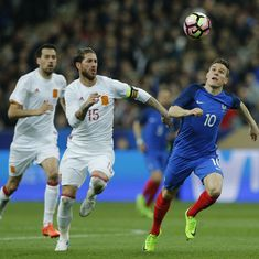 International friendlies: Video referee takes centre stage as Spain defeat France 2-0