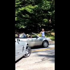 Watch: Justin Bieber directs traffic after his car breaks down in the middle of the road