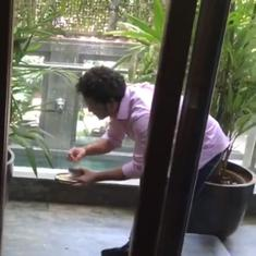 Watch: Sachin Tendulkar rescued an injured kite from his balcony and won hearts online