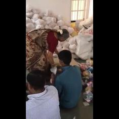 Sudha Murthy helps Infosys Foundation staff pack relief material for Kerala, video goes viral