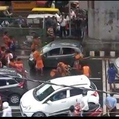 दिल्ली : कांवड़ियों द्वारा कार में तोड़फोड़ के मामले में चार नाबालिगों समेत नौ गिरफ्तार