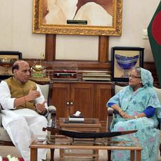 Home Minister Rajnath Singh discusses bilateral ties with Bangladesh Prime Minister Sheikh Hasina
