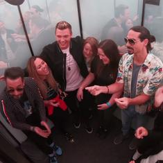 Watch: Backstreet Boys surprised fans with a mini concert in a lift (it was staged)