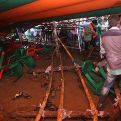 West Bengal Police book organiser and decorator for negligence after tent collapses at Modi rally