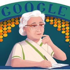 Google celebrates 107th birthday of Urdu author Ismat Chughtai with a doodle