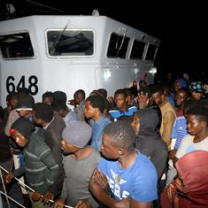 Libyan Navy rescues over 900 refugees stranded in the Mediterranean