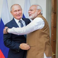 India and Russia sign $500-million deal to build two warships for the Navy in Goa