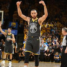 NBA: Golden State take 2-0 lead, Steph Curry sinks Finals record nine three-pointers