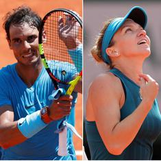 French Open day 12 highlights: Nadal powers through to semis, Halep's terrific run continues