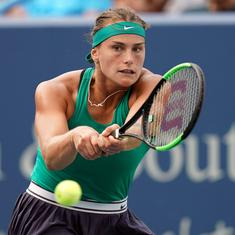 Aryna Sabalenka lifts first WTA title after beating Suarez Navarro to win Connecticut Open