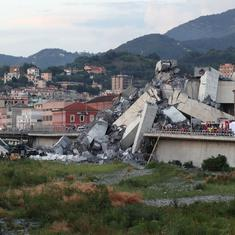 Italy: Toll in Genoa bridge collapse rises to 38, says interior minister