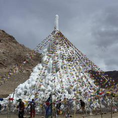 Ladakh's ingenious water-conserving 'ice stupas' have left farmers living downstream disgruntled