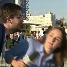 Watch: World Cup reporter schools man on respecting women after he tries to kiss her on live TV