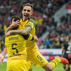 Substitute Alcacer inspires Dortmund's turnaround against Leverkusen in Bundesliga