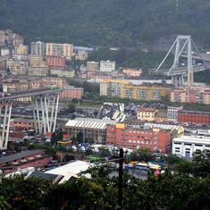 इटली में पुल गिरा, 35 लोगों की मौत