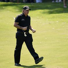 'My anger and frustration got the best of me': Mickelson apologises for US Open rules violation