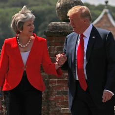 Donald Trump denies criticising Theresa May, says he will back any Brexit policy UK chooses