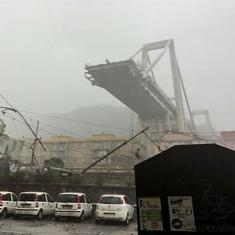 Italy: Around 30 feared dead as motorway bridge collapses in Genoa